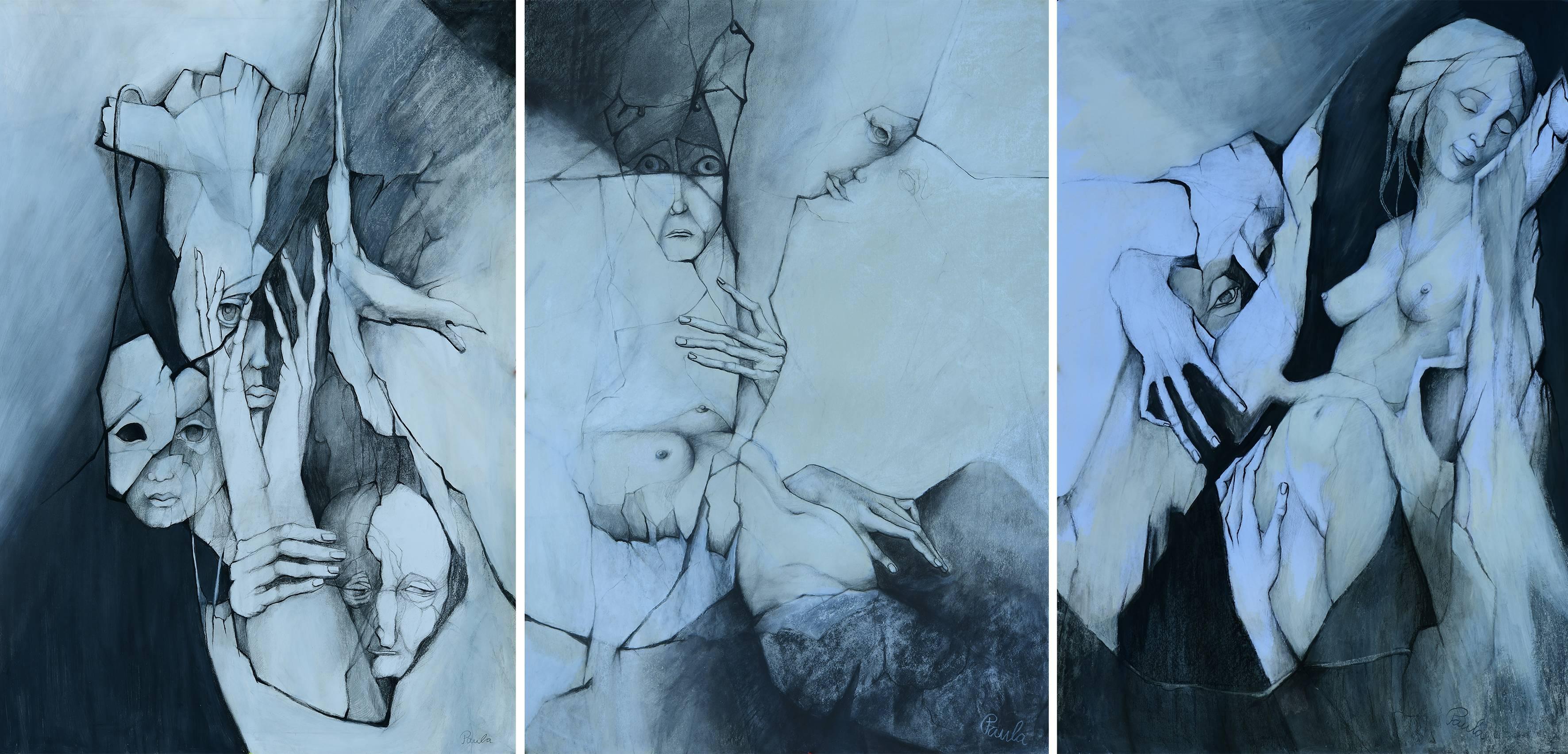 BRIGITTE GERLACH (Paula): Lebenszyklus, Triptychon