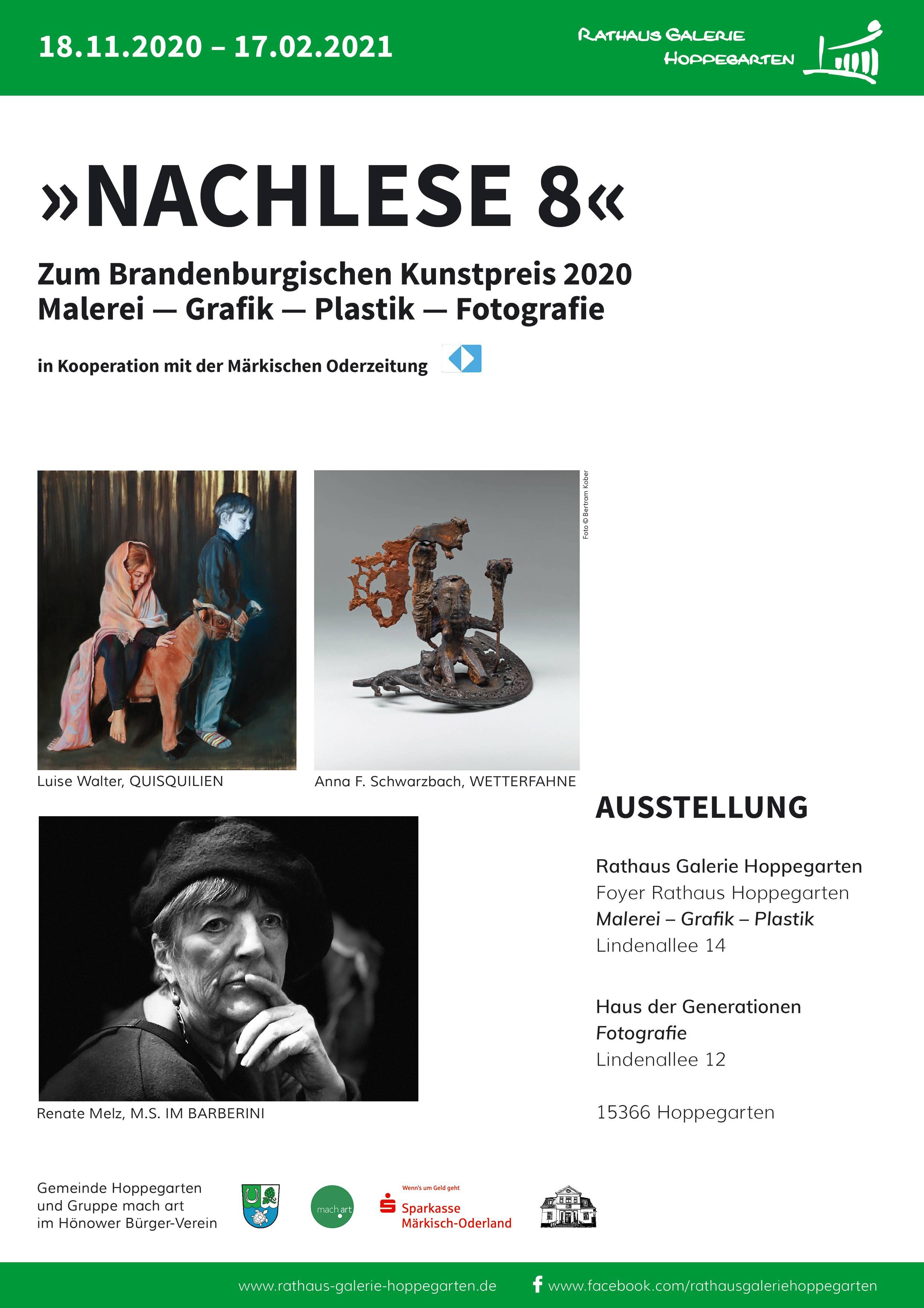 Plakat der Ausstellung: VON DER KUNST DER GEGENSÄTZE ...
